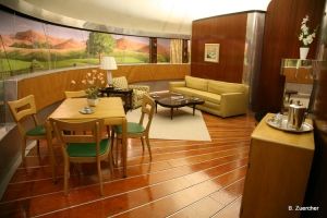 Inside the Dymaxion House at the Henry Ford Museum