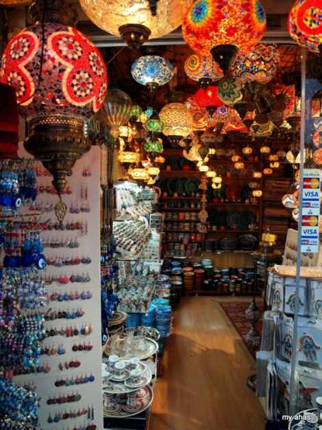 Typical souvenir shop in Istanbul.