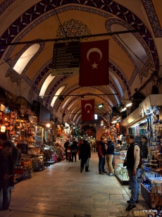"One of the many ""streets"" within the Grand Bazaar. Be sure to look up and take in the amazing architecture."
