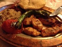 Chicken kebab.