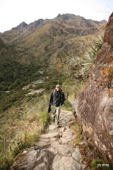 Our guide, Jhon, near the Runkurakay Ruins