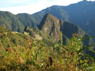 Machu Picchu, viewed from the trail leading to the Sun Gate.