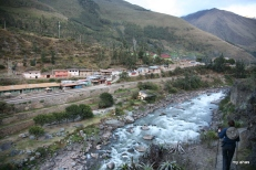 Me, walking the trail to the private campsite. The village of Piscachucho is across the Urubamba River.