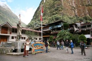 The main square in Aguas Calientes.