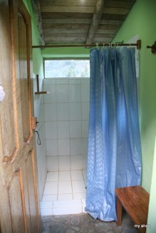 I took a wonderfully warm shower in here.