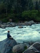 Enjoying the beauty of the Urubamba River.