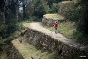Me, following the Inca Trail over one of Qonchamarka's terraces