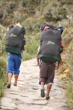 Two of our porters in their sandals