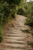 Very worn steps