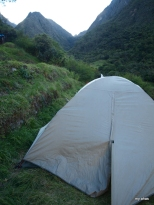 Our tent, ready for tired occupants
