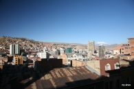 La Paz, as seen from the top of our hotel.