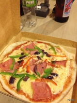 A very yummy Bolivian pizza.