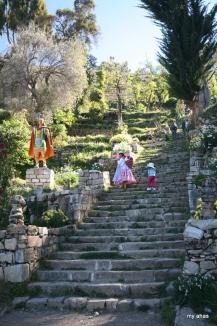 The Inca Steps and statue of Manco Cápac