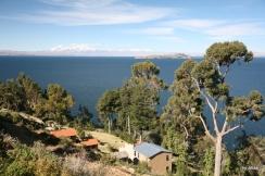 Isla del Sol and the Cordillera Real mountain range