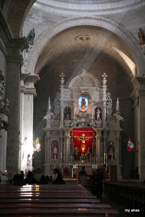 Inside Puno's Cathedral