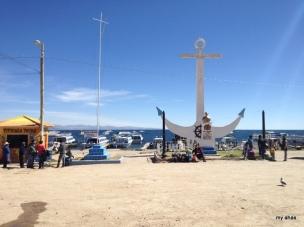 Copacabana dock on Lake Titicaca.
