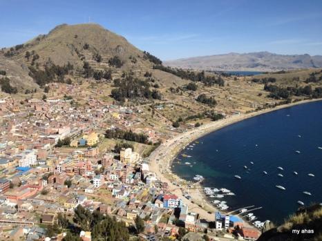 View of Copacabana from the summit of Cerro Calvario