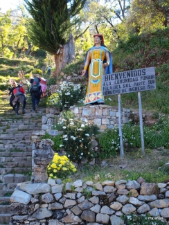 The Inca Steps and statue of Mama Ocllo