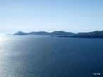 View of Isla del Sol from the summit of Cerro Calvario