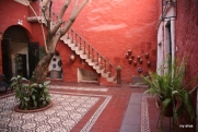 Another view of our courtyard at La Casa de Melgar.