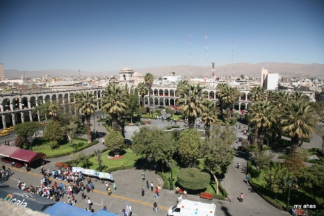View of Plaza de Armas from La Catedral, Rooftop