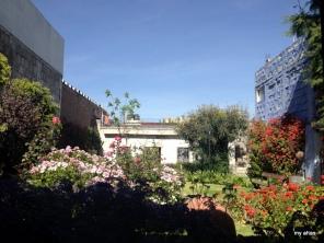 The breakfast view at La Casa de Melgar.