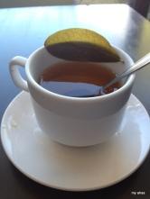 Still enjoying coca tea with morning's breakfast.