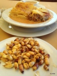 Our dinner at the well-known Sol De Mayo touristic restaurant--my first Rocoto Relleno--it was delicious.