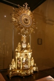 Monstrance exhibited in the art gallery.