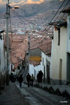 Steep streets of Cusco