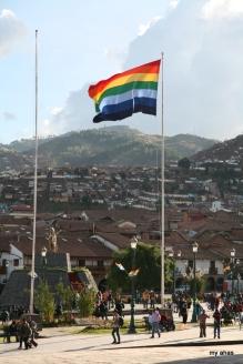 Indigenous flag in La Plaza de Armas