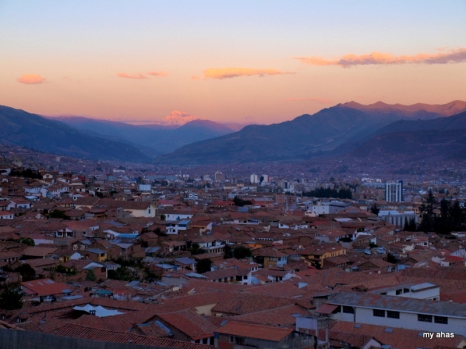 Cusco at sunset.