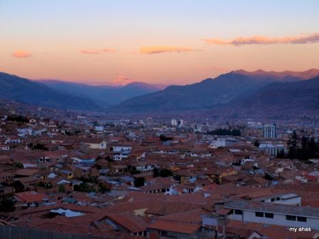 Cusco at sunset.