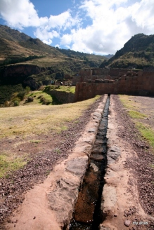 Water channel at Pisac