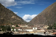 View of Ollantaytambo from the ruins