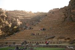 Looking up towards Ollantaytambo's terraces