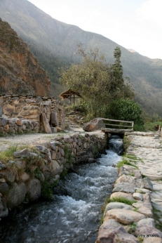 Water channel in Ollantaytambo