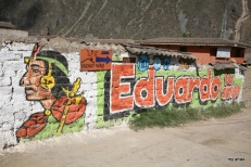 These political signs were painted all over the Sacred Valley