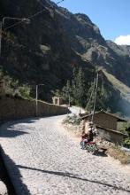Entering Ollantaytambo