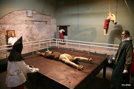 Nobody expects the Spanish Inquisition! At the Museo de la Inquisicion.