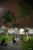 Plaza San Martin at night.